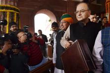The budget numbers show that total tax receipts and expenditure are forecast to increase 6.6% in FY18, compared to a rise of 12.5% in FY17. Photo: PTI