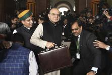 Finance minister Arun Jaitley at the Parliament House in New Delhi on Wednesday. Photo:  Hindustan Times
