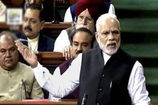 Narendra Modi said the NDA had set up a SIT on black money on the first day of taking office, making its intention clear on the issue. Photo: PTI