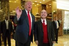 US President Donald Trump with SoftBank CEO Masayoshi Son at Trump Tower in New York. Photo: AP