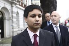 Navinder Singh Sarao, a British trader charged over his role in the 2010 US flash crash leaves Westminster Magistrates' Court following his extradition hearing in London. Photo: Bloomberg