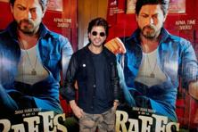 Bollywood actor Shah Rukh Khan during a promotional event of his film Raees in Amritsar. Photo: PTI