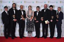 'La La Land' picked up five British Bafta movie awards on Sunday, at a glitzy London ceremony charged with filmmakers' political messages. The Hollywood musical picked up gongs for best film, best director and best actress, paving the way for Oscar success later this month. Photos: Toby Melville/Reuters