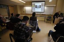 Journalism students at Kean University, US, watch a presentation on fake news. Stony Brook University pioneered the idea of educating future news consumers and not just journalists, a decade ago with the rise of online news. Photo: AP