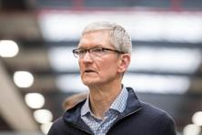In an interview published on Saturday Tim Cook calls for a 'massive' campaign to raise awareness of untrustworthy news stories. Photo: AFP