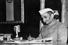 India's first president Dr Rajendra Prasad. The government requirement to fill out one's caste in various school documents can run counter to efforts to dismantle the caste structure. Photo: ImageForum