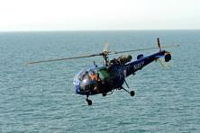 Indian Navy requires 100 units of twin-engine medium-sized utility helicopters to serve the Indian waters. Photo: AFP