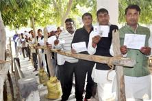 A high voter turnout, on the lines of Punjab, Goa and first phase of UP, is expected on Wednesday too. Photo: PTI