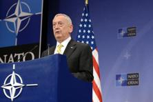 US secretary of defence James Mattis delivers a speech during a press conference following the Nato defence ministers' meeting at Nato headquarter in Brussels. Photo: AFP