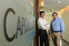Capital Float founders Sashank Rishyasringa and Gaurav D. Hinduja. Photo: Hemant Mishra/Mint