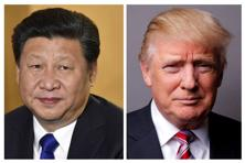 A file photo showing Chinese president Xi Jinping (L) and US President Donald Trump. Photo: AFP