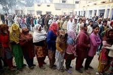 There are 680 candidates in the fray, whose fate will be decided by 1. 84 voters, including 84 lakh women. Photo: Reuters