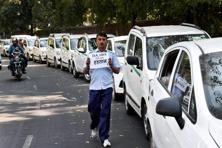 Ola and Uber cab drivers in Delhi called off their strike in New Delhi on Thursday. Photo: PTI