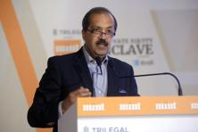 Sanjay Nayar, chief executive officer, KKR India said that big capital gaps are being addressed and despite all the challenges, India is still one of the biggest opportunities and can still invite a lot of capital today. Photo: Abhijit Bhatlekar/Mint