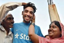 Mohammed Siraj, snapped up by SunRisers Hyderabad for Rs2.6 crore, is the son of an autorickshaw driver. Photo: PTI