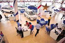 Sales of commercial vehicles moved up 7.34% to 66,939 units in February, Siam said. Photo: Pradeep Gaur/Mint