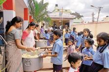 Balanced meals in schools also contribute towards development of cognitive abilities in children. Photo: Hemant Mishra/Mint