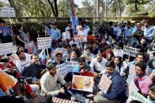 Ramjas College had witnessed large-scale violence between members of the All India Students Association and the Akhil Bharatiya Vidyarthi Parishad last month. Photo: PTI