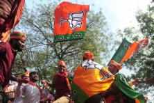 The BJP won the assembly elections in Uttar Pradesh and Uttarakhand while the Congress won in Punjab. Photo: AFP
