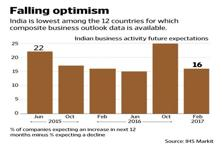 Optimism has fallen in both the manufacturing and services sectors. Graphic by Naveen Kumar Saini/Mint