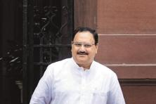 A file photo of Union health minister J.P. Nadda. Photo: Hindustan Times