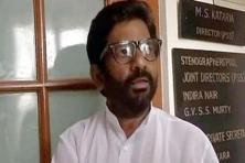 Shiv Sena MP Ravindra Gaikwad assaulted Air India staffer Sukumar Raman at the IGI Airport in Delhi on Thursday. Photo: Twitter