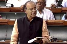 Finance minister introduced the four pending GST bills as money bills in Lok Sabha on Monday. Photo: PTI