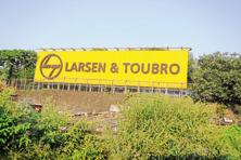 The shares of L&T were trading 0.28% lower at Rs1,547 on the BSE on Monday morning. Photo: Mint
