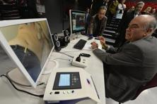 A file photo of remote cardiac ultrasound being performed by a cardiologist in France. Photo: AFP