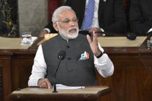 File photo. Prime Minister Narendra Modi addresses a joint meeting of Congress in Washington D.C. on 8 June 2016. Photo: AFP