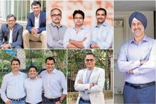 The five homegrown venture capital firms that are making a mark (clockwise from top left)—founders of Pravega Ventures, Endiya Partners, Fireside Ventures, Equanimity and Stellaris Venture Partners.