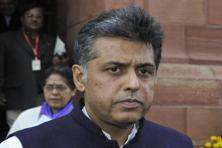 Congress spokesperson Manish Tewari said that EVMs can be tampered with is something which has been demonstrated over and over again by different stakeholders. Photo: HT