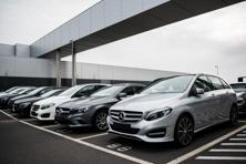Luxury car market leader Mercedes-Benz said on Tuesday that the three months to March were its best ever. Photo: Bloomberg