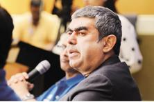 Infosys CEO Vishal Sikka. Co-chairman Ravi Venkatesan's appointment came on a day when the IT firm reported near-flat Q4 results. Photo: Aniruddha Chowdhury/Mint