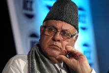 A file photo of National Conference chief Farooq Abdullah. Photo: Bloomberg