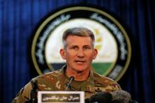 US army General John Nicholson, Commander of Resolute Support forces and US forces in Afghanistan, speaks during a news conference in Kabul. Photo: Reuters