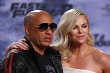 Vin Diesel and Charlize Theron pose at the premiere of the 'Fast and Furious 8' movie in Berlin, Germany, on 4 April, 2017. Photo: Reuters