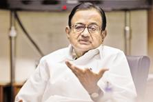 "File photo. On Monday, Congress leader P. Chidambaram had said by targeting Karti with ""baseless notices"" the government cannot silence his voice or stop his writing."