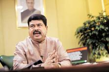 A file photo of oil minister Dharmendra Pradhan. The oil ministry statement said efforts are being made by oil marketing companies for land identification for oil depots and LPG bottling plants at Anantnag, Rajouri and Kargil. Photo: Mint