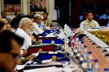 The Vision 2031-32 presented by the Niti Aayog vice-chairman Arvind Panagariya to the body's Governing Council was chaired by Prime Minister Narendra Modi. Photo: PTI.