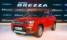 The Maruti Suzuki Vitara Brezza. Royalty payments to parent Suzuki Motor, which owns 56% in Maruti Suzuki, increased to 5.8% in the March quarter as against 5.7% in the year earlier. Photo: Pradeep Gaur/Mint