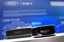 Amazon unveiled the Echo, a cylindrical speaker that lets users stream music, dim lights, and order pizza by voice, in 2014. Photo: AFP