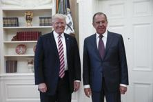 A file photo of US President Donald Trump (left) with Russian foreign minister Sergei Lavrov during their meeting at the White House in Washington, DC on 10 May, 2017. Photo: AFP