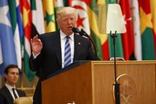 US President Donald Trump's signature phrase 'radical Islamic terrorism' was not included in Saudi Arabia speech.Instead, he used the term 'Islamist extremism'. Photo: AP