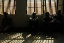 A file photo of Indian prisoners sitting in a cell of Tihar Jail in New Delhi. Photo: Manpreet Romana/AFP.