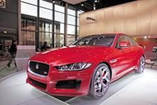 Sales of Jaguar, a British marque, surged 81% in the March quarter on demand for its F-Pace sport utility vehicle and entry-level XE sedan. Photo: Bloomberg