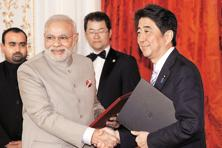 The idea of AAGC emerged in the joint declaration issued by Indian Prime Minister Narendra Modi and Japanese Prime Minister Shinzo Abe in November 2016. Photo: Bloomberg