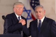 US President Donald Trump, left, with Israeli Prime Minister Benjamin Netanyahu in Jerusalem on 23 May. Photo: AP