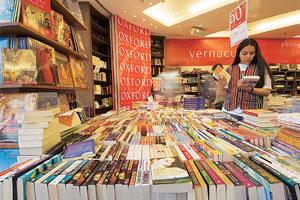 Pen it down: A photograph showing the inside view of an Oxford Bookstore in New Delhi. Self-publishing is helping authors publish their work at a fraction of what would cost to go to traditional publi