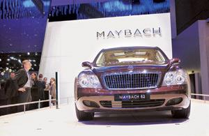 Spoilt for choice: The Mercedes Maybach at the Geneva show. Makers of the Rs5 crore car, see a definite market in India. Adrian Moser / Bloomberg News
